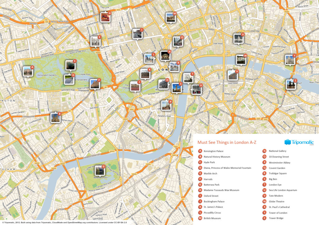 Cartina Di Londra Monumenti.Mappa Di Londra London Forever
